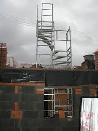 escalier de chantier