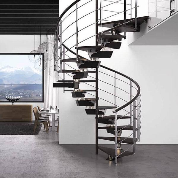 escalier sur mesure design noir