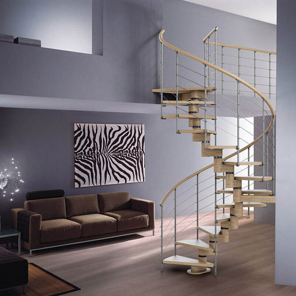 escalier sur mesure helicoidal
