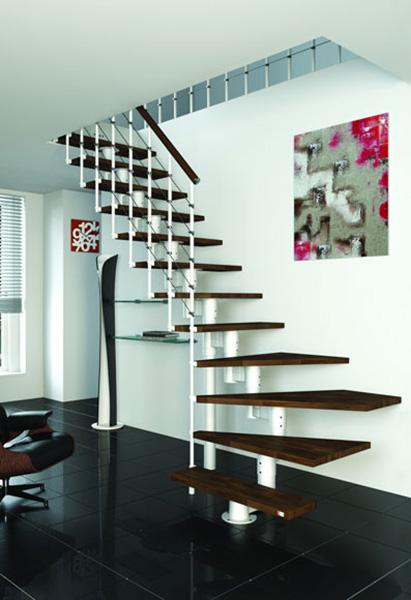 escalier quart tournant largeur 75cm. Black Bedroom Furniture Sets. Home Design Ideas