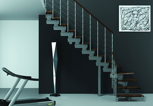 escalier gain de place quart tournant amazing escalier. Black Bedroom Furniture Sets. Home Design Ideas