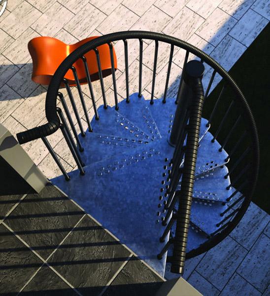 haut de l'escalier exterieur