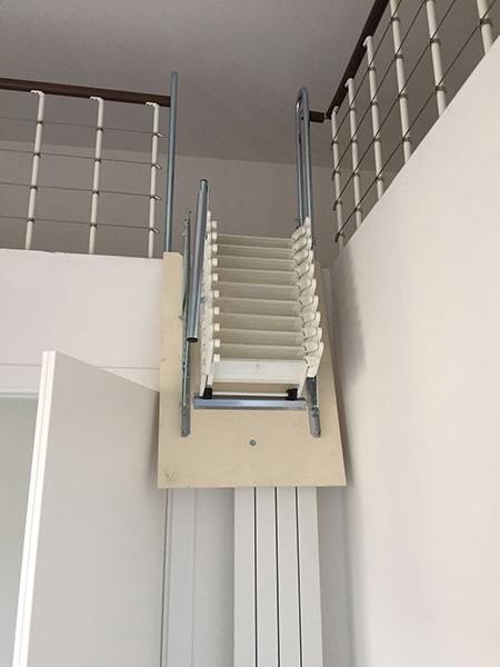 Escalier de meunier Palco blanc fermé