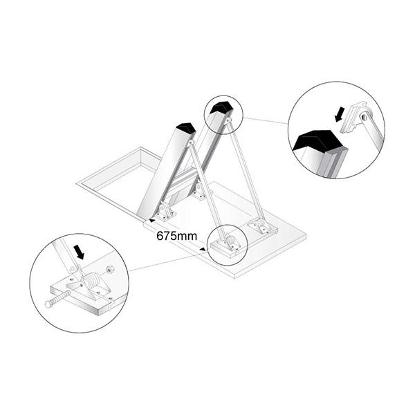 escalier escamotable aluminium de. Black Bedroom Furniture Sets. Home Design Ideas