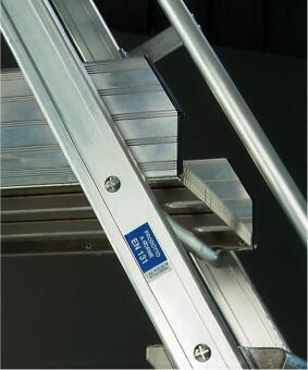 rampe de l'escalier roulant