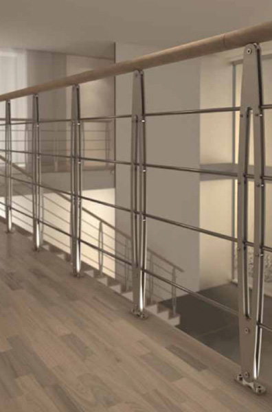 rampe escalier leaf fixation plancher