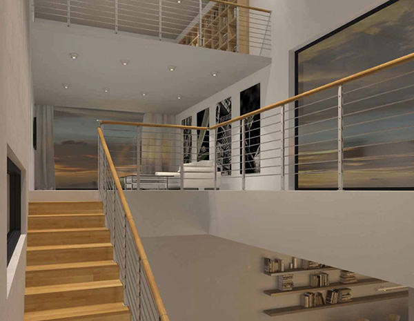 rampe escalier minimal plus