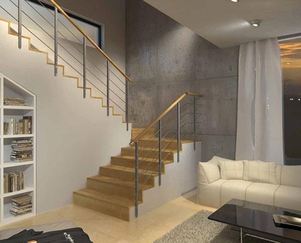 rampe escalier minimal