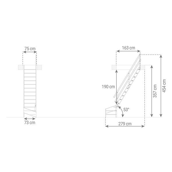 schema escalier MSS MSW R