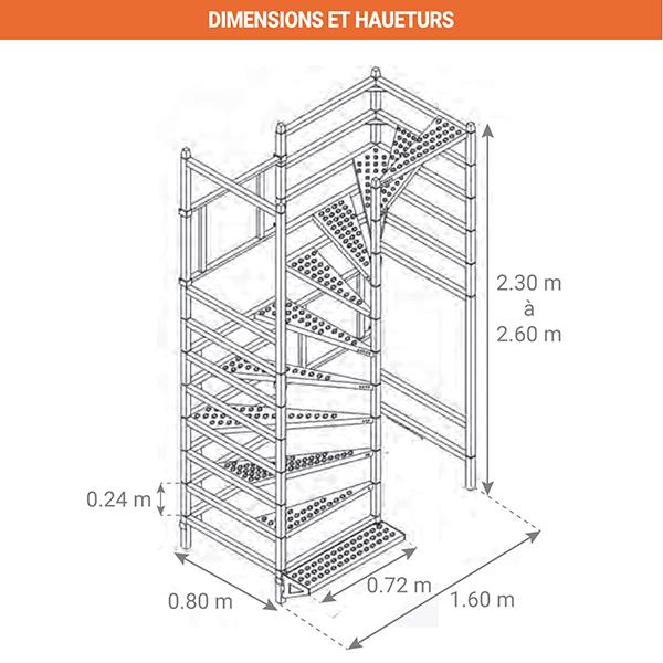 schema escalier chantier BAU858000