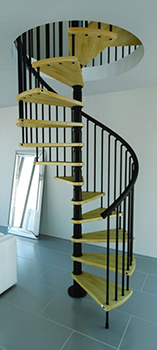 escalier helicoidal bois