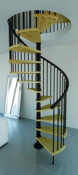 escalier bois helicoidal