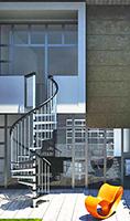 escalier helicoidal exterieur