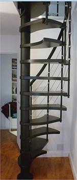 escalier japonais noir