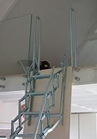 Haut de l'escalier de meunier Palco