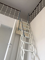 Escalier de meunier Palco blanc déployé