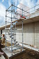 Escalier de chantier hélicoïdal HELISTEP en situation