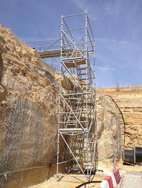 Escalier de chantier UNISTEP en situation