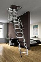 schema de l'escalier escamotable électrique