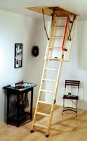 schema de l'escalier escamotable grande hauteur
