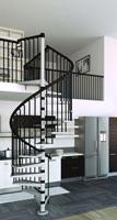 Escalier helicoidal acier ou bois de diff rents diam tre for Comescalier helicoidal acier