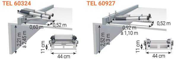 schema escalier pliable grenier