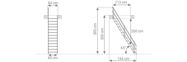 schema escalier MSA