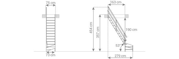 schema escalier MSS MSW L