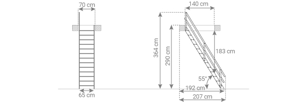 schema escalier MSU