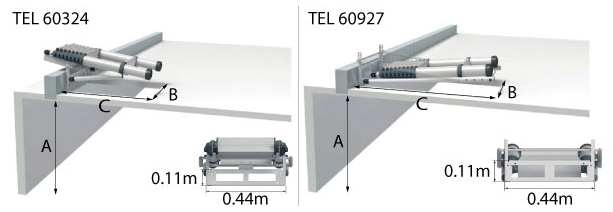 schema escalier escamotable telescopique