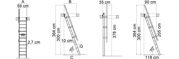 Schéma de l'escalier de meunier MSP