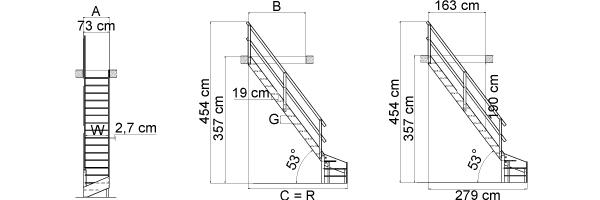 Schéma de l'escalier MSS/MSW