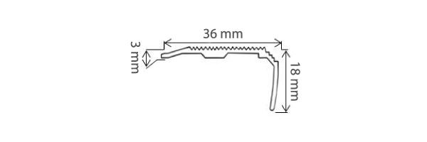 Schéma du nez de marche Licorne