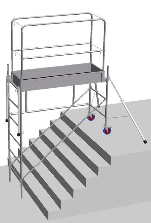 échafaudage pour escalier