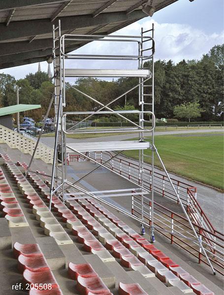 gerustbau rollende docker EXM 85 montage treppe