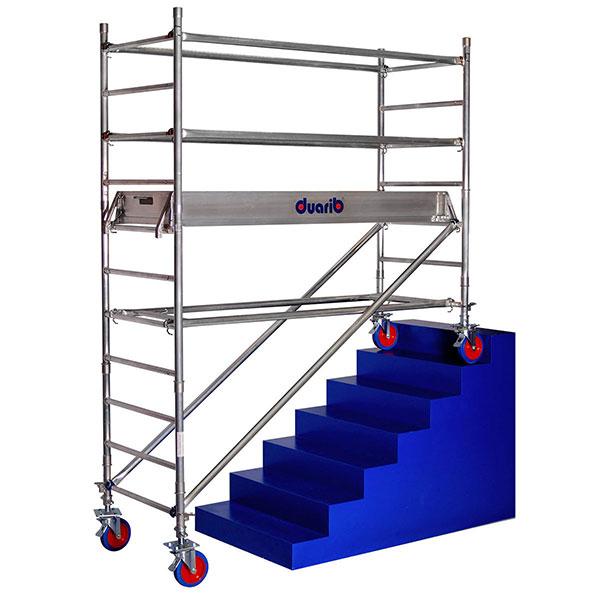 gerustbau rollende treppe docker
