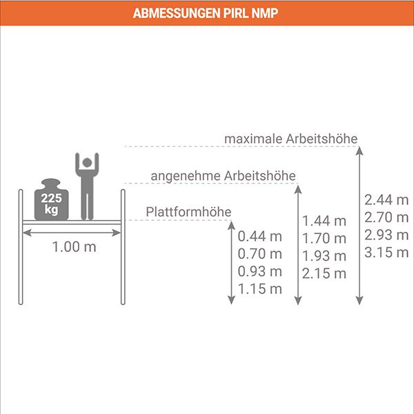 schema podestleiter fahrbar NMP