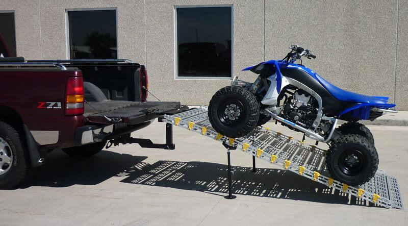 rampe mit einem quad