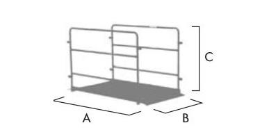 Schema der Grabenbrücke für Fussgänger