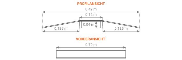 Schema der Warzenblech Rollstuhlrampe - Schwellenbrücke