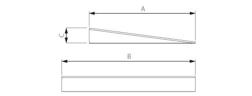 Schema der Riffelblech keilförmige Zugangsrampe