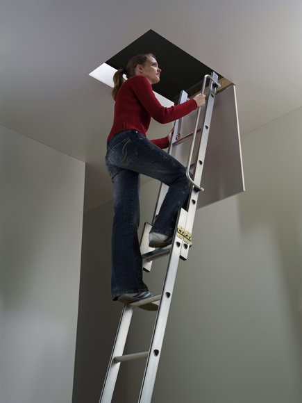 dachbodenleiter schiebeleiter 3 teilig. Black Bedroom Furniture Sets. Home Design Ideas