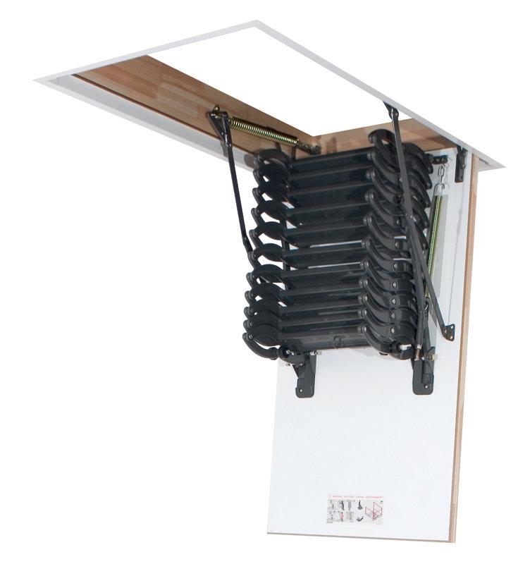 Dachbodenleiter lst zusammengeschoben