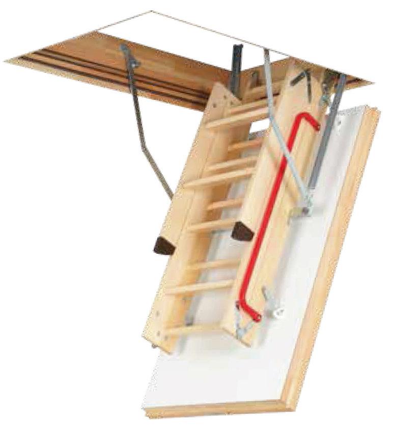 Lukenklappe der Holz Dachbodenleiter
