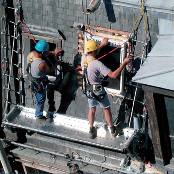 arbeiten auf dachleiter