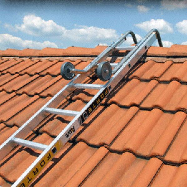 aufgelegte Dachleiter