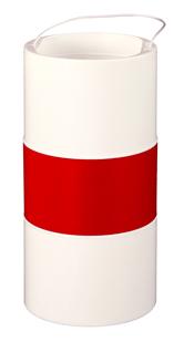 hellroter zylindrischer Koerper fahne