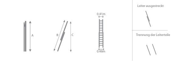 Schema der Seilzugleiter 8800