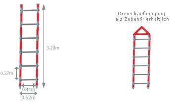 Schema Dachleiter Strickleiter