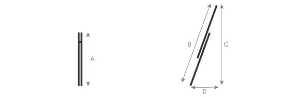 Schema der Schiebeleiter